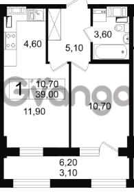 Продается квартира 1-ком 39 м² Московский проспект 65, метро Фрунзенская