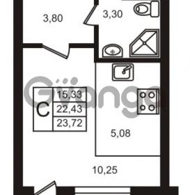 Продается квартира 1-ком 22.43 м² улица Кирова 11, метро Улица Дыбенко
