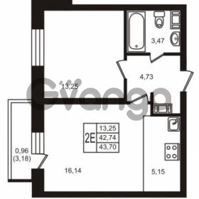 Продается квартира 1-ком 42.74 м² улица Кирова 11, метро Улица Дыбенко