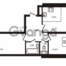 Продается квартира 2-ком 59.28 м² улица Кирова 11, метро Улица Дыбенко