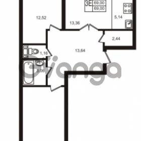 Продается квартира 2-ком 69 м² улица Кирова 11, метро Улица Дыбенко