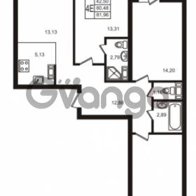 Продается квартира 3-ком 80.48 м² улица Кирова 11, метро Улица Дыбенко