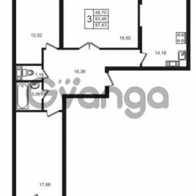 Продается квартира 3-ком 83.48 м² улица Кирова 11, метро Улица Дыбенко