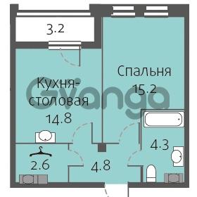 Продается квартира 1-ком 41 м² улица Кременчугская 13к А, метро Площадь Восстания