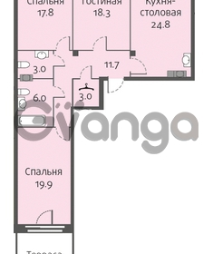 Продается квартира 3-ком 104 м² улица Кременчугская 13к А, метро Площадь Восстания