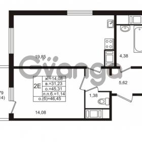 Продается квартира 1-ком 45.31 м² проспект Энергетиков 9, метро Ладожская