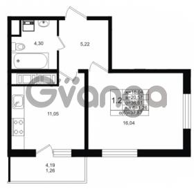 Продается квартира 1-ком 36.61 м² проспект Энергетиков 9, метро Ладожская