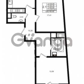 Продается квартира 2-ком 56.89 м² проспект Энергетиков 9, метро Ладожская