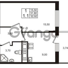 Продается квартира 1-ком 31.8 м² проспект Строителей 7, метро Улица Дыбенко