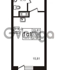 Продается квартира 1-ком 23.06 м² Школьная улица 7к 2, метро Купчино