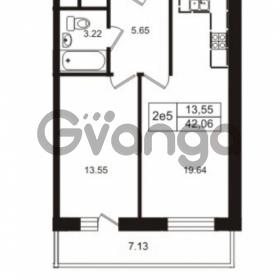 Продается квартира 1-ком 42.06 м² Школьная улица 7к 2, метро Купчино