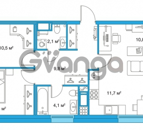 Продается квартира 2-ком 60.4 м² улица Оптиков 34, метро Старая деревня