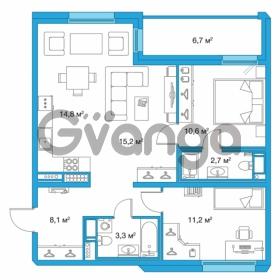 Продается квартира 2-ком 65.9 м² улица Оптиков 34, метро Старая деревня