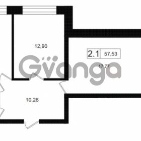 Продается квартира 2-ком 57.53 м² Европейский проспект 14, метро Улица Дыбенко