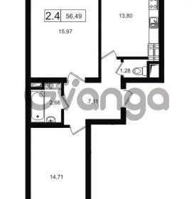 Продается квартира 2-ком 56.49 м² Европейский проспект 14, метро Улица Дыбенко