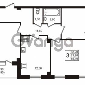 Продается квартира 3-ком 85 м² Московский проспект 65, метро Фрунзенская