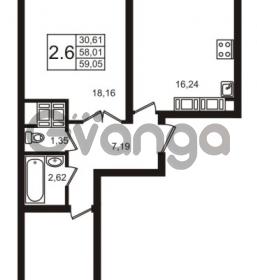 Продается квартира 2-ком 59 м² шоссе в Лаврики 74к 2, метро Девяткино