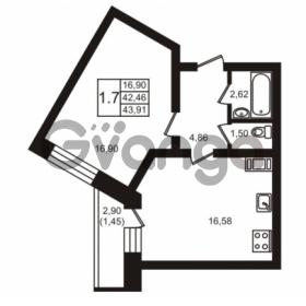 Продается квартира 1-ком 43 м² шоссе в Лаврики 74к 1, метро Девяткино