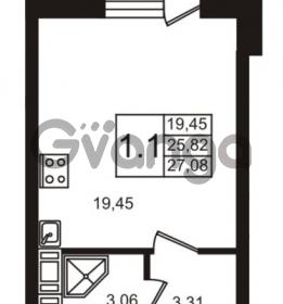 Продается квартира 1-ком 27 м² Новая улица 15, метро Ладожская