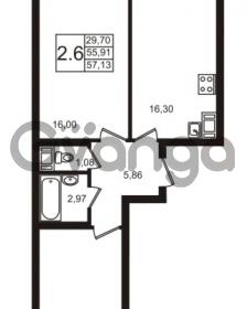 Продается квартира 2-ком 57 м² Новая улица 15, метро Ладожская