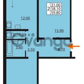 Продается квартира 2-ком 59.8 м² Южное шоссе 110, метро Международная