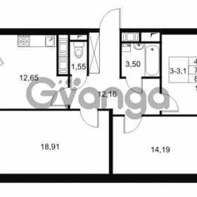 Продается квартира 3-ком 77.1 м² Комендантский проспект 53к 1, метро Комендантский проспект
