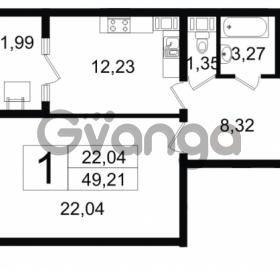Продается квартира 1-ком 49.21 м² Новгородская улица 17, метро Чернышевская