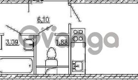 Продается квартира 1-ком 42.22 м² Европейский проспект 4к 2, метро Улица Дыбенко
