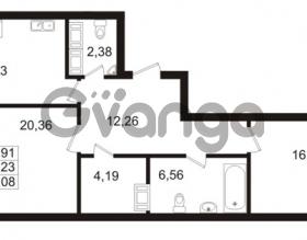 Продается квартира 2-ком 77.23 м² Ушаковская набережная 3, метро Черная речка