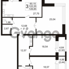 Продается квартира 3-ком 122.25 м² Ушаковская набережная 3, метро Черная речка