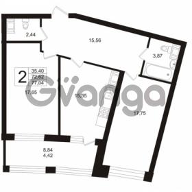Продается квартира 2-ком 72.62 м² Ушаковская набережная 3, метро Черная речка
