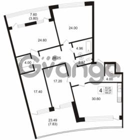 Продается квартира 4-ком 157.58 м² Ушаковская набережная 3, метро Черная речка