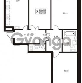 Продается квартира 3-ком 112.73 м² Ушаковская набережная 3, метро Черная речка