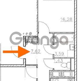 Продается квартира 2-ком 58.97 м² Комендантский проспект 53к 1, метро Комендантский проспект