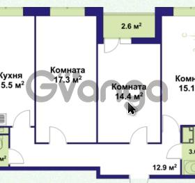 Продается квартира 3-ком 79.68 м² улица Крыленко 1, метро Улица Дыбенко