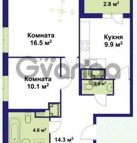 Продается квартира 2-ком 57.71 м² улица Крыленко 1, метро Улица Дыбенко