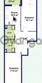 Продается квартира 2-ком 65 м² улица Крыленко 1, метро Улица Дыбенко