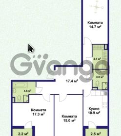 Продается квартира 3-ком 87 м² улица Крыленко 1, метро Улица Дыбенко