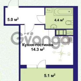 Продается квартира 1-ком 23.7 м² улица Крыленко 1, метро Улица Дыбенко