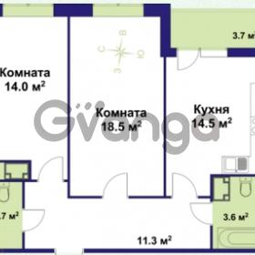 Продается квартира 2-ком 63.5 м² улица Крыленко 1, метро Улица Дыбенко