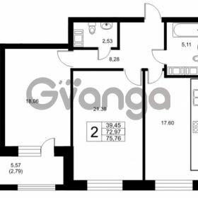 Продается квартира 2-ком 72.97 м² Ушаковская набережная 3, метро Черная речка