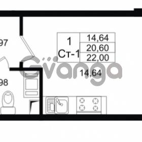 Продается квартира 1-ком 20.6 м² проспект Строителей 1, метро Улица Дыбенко