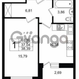 Продается квартира 1-ком 37.04 м² Шоссейная 1, метро Ладожская