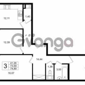 Продается квартира 3-ком 73.59 м² Шоссейная 1, метро Ладожская