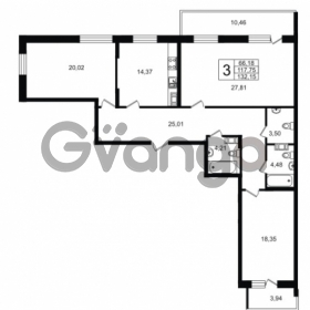 Продается квартира 3-ком 132 м² Приморский проспект 52, метро Старая деревня
