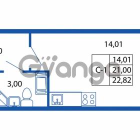 Продается квартира 1-ком 20.01 м² Европейский проспект 14, метро Улица Дыбенко