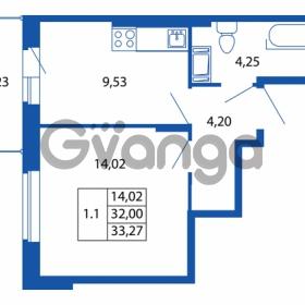 Продается квартира 1-ком 32 м² Европейский проспект 14, метро Улица Дыбенко