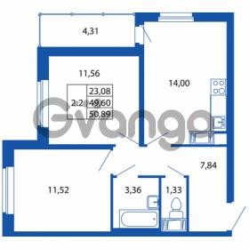 Продается квартира 2-ком 49.6 м² Европейский проспект 14, метро Улица Дыбенко