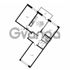 Продается квартира 3-ком 73.06 м² проспект Строителей 1, метро Улица Дыбенко