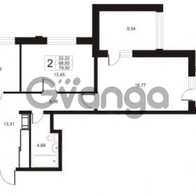 Продается квартира 2-ком 79.5 м² улица Катерников 1, метро Проспект Ветеранов